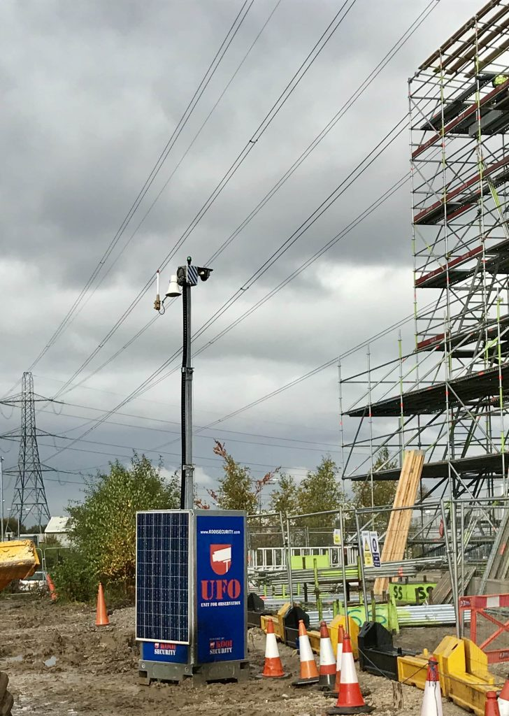 Aberdeen Security - Facilities Management   Temporary Solar Pods - Apardion
