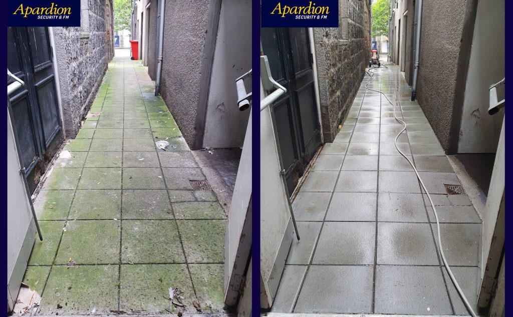 Aberdeen Security - Facilities Management | POWERWASHING SERVICES - Apardion