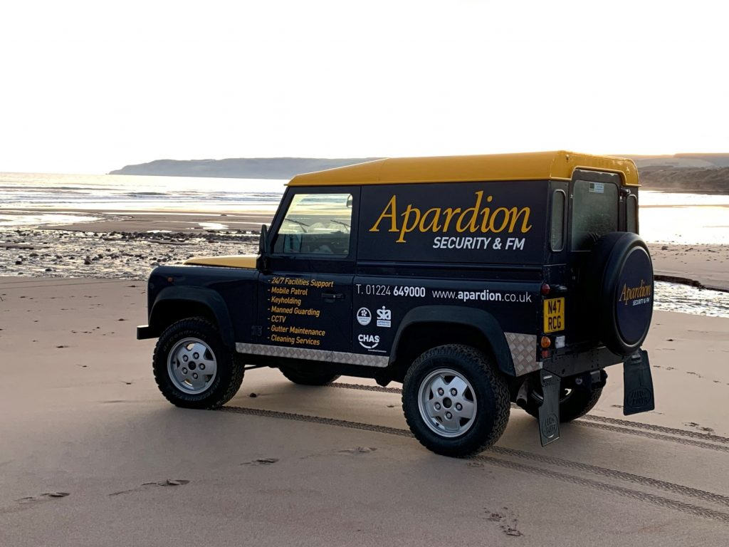 Aberdeen Security - Facilities Management | Apardion's recent involvement on a Temporary construction site - Apardion