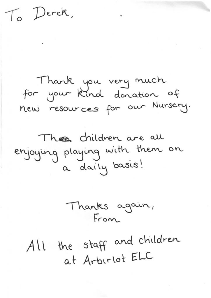 Aberdeen Security - Facilities Management | A Thank you From Arbirlot Primary - Apardion