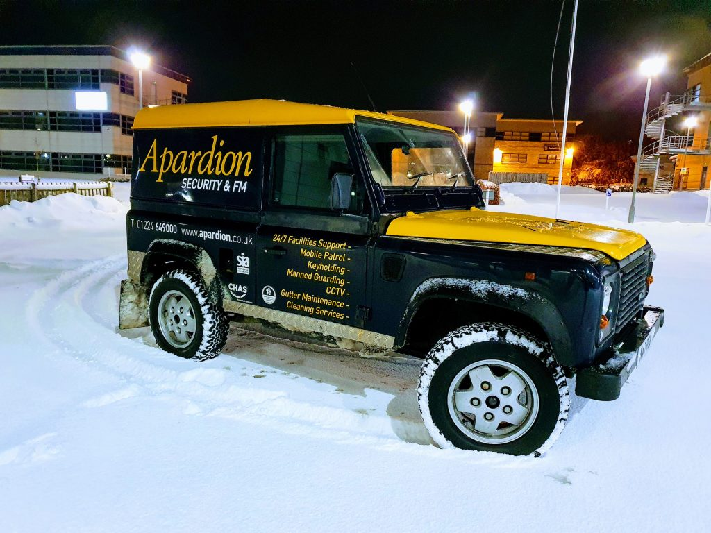 Aberdeen Security - Facilities Management | APARDION MOBILE PATROL SERVICES - Apardion
