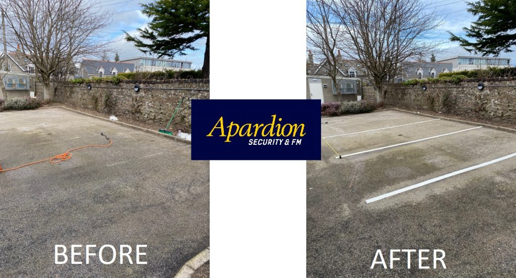 Aberdeen Security - Facilities Management | APARDION CAR PARK/ ROAD MARKING APPLICATION SERVICES - Apardion